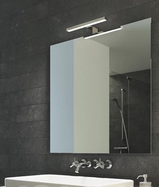 Espejo liso a juego con aplique led