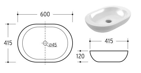 Lavabo modelo 04 ( con orificio para grifo )