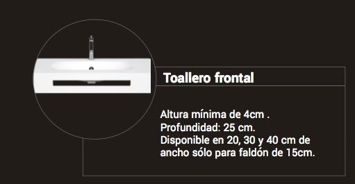 Toallero Frontal