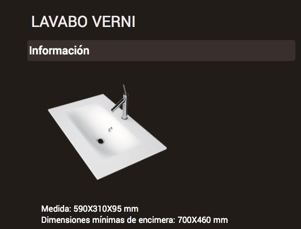 Lavabo VERNI 590x310x95