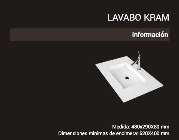 Lavabo Kram ( 480x290x80 )
