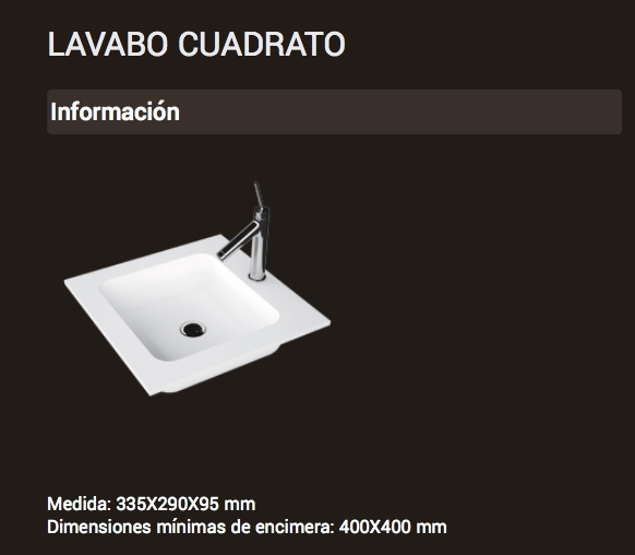 Lavabo Cuadrotto ( 335x290x95 )