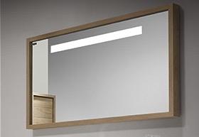 Espejo con marco Roble Retroiluminado ( Tino )