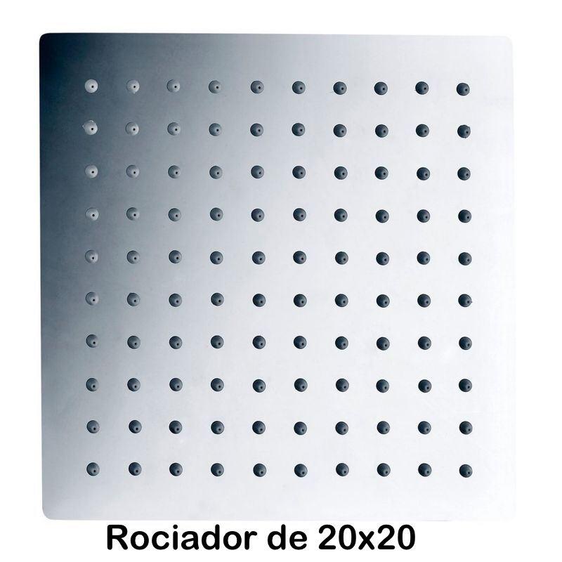 Rociador cuadrado de Acero de 20x20 cm