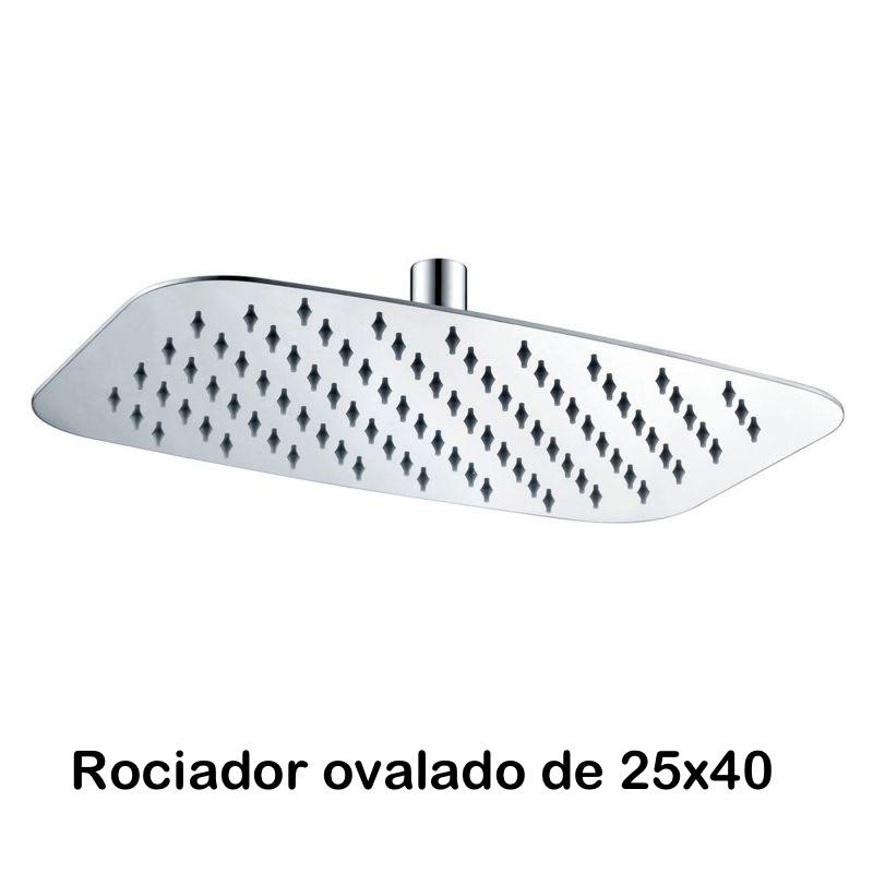 Rociador ovalado de Acero de 25x40 cm
