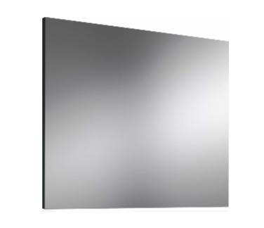 Espejo liso montado sobre tablero.