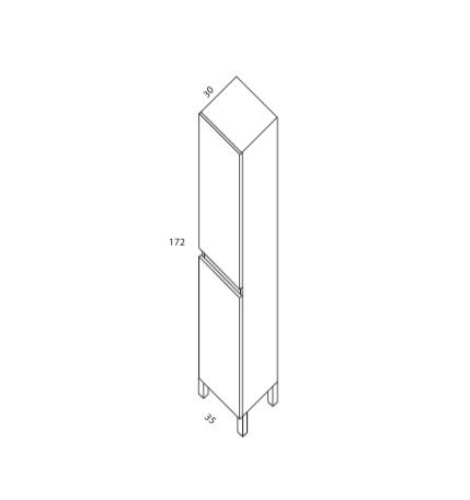 Columna sin cajon de 160x35x30