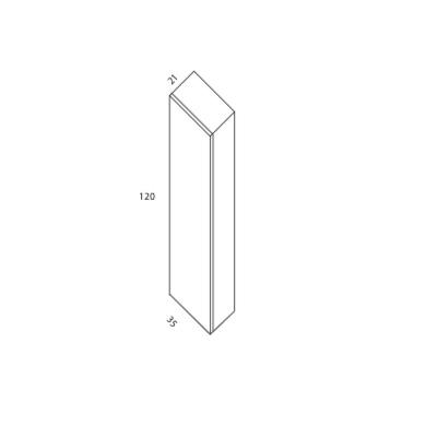Semicolumna Suspendida de 120x35x21