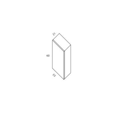 Modulo colgar 1 puerta 60x35x21
