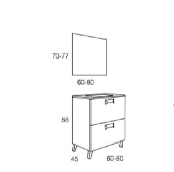 Mueble a suelo con patas ( 88 cm )