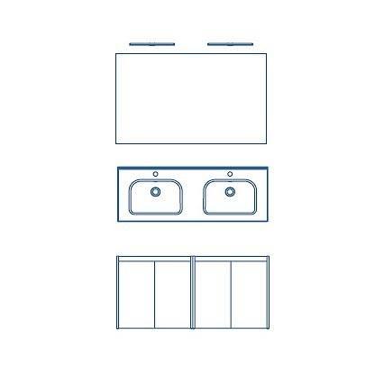Combinación 4 Puertas + Espejo y 2 apliques