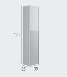 Columna Glass de 120x39x25 a juego