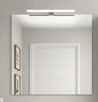 Espejo liso Almagro + aplique LED