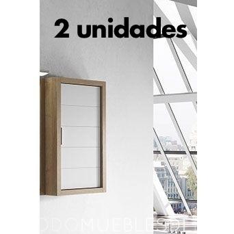2 unid x Modulo colgar Tino Bco/Roble de 69x40x17