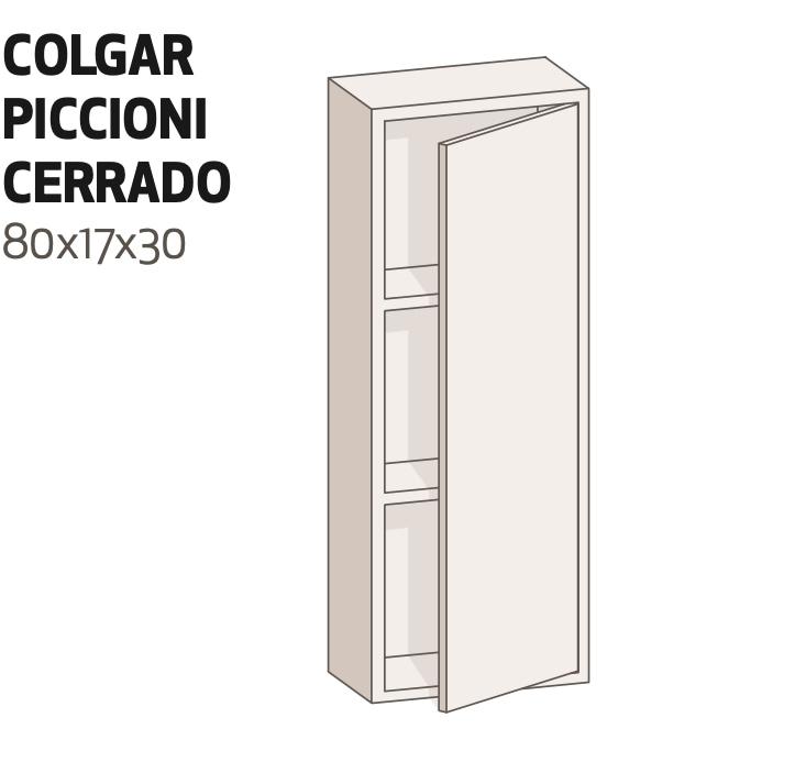 Módulo colgar con puerta reversible de 80x17x30