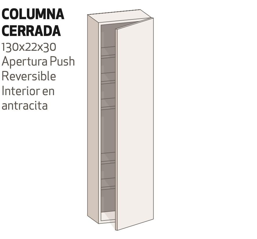 Columna con Puerta de 130x22x30 Reversible
