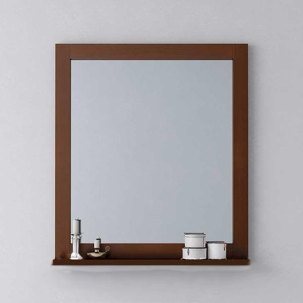 Espejo country enmarcado con estante ( misma medida )