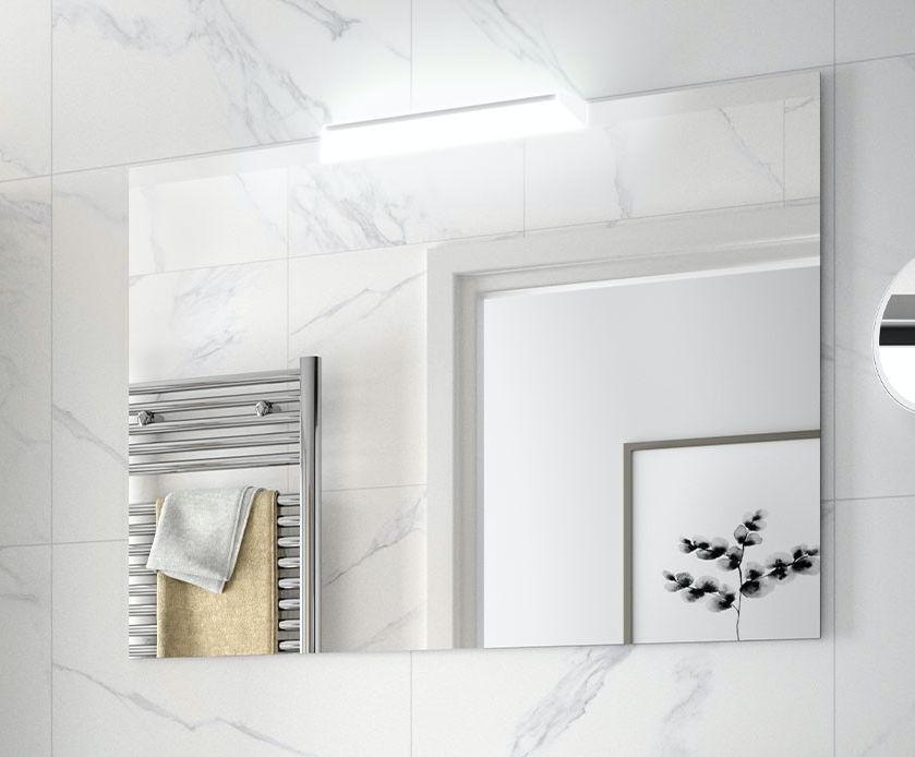 Espejo liso y aplique Incluido ( ATTILA I
