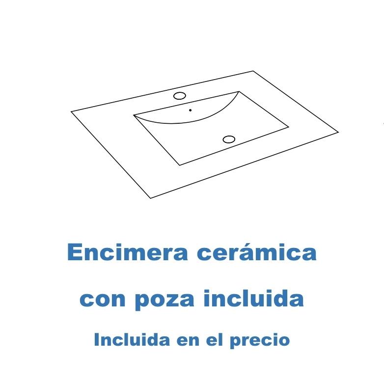 Encimera cerámica con lavabo