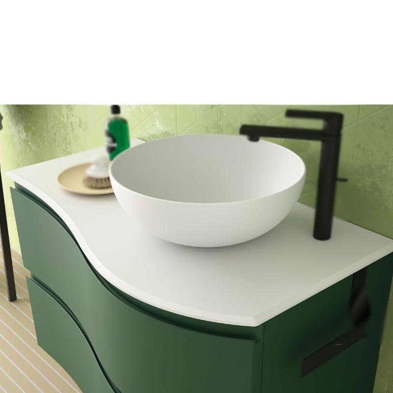 Encimera Solid mate con lavabo Altiro mate