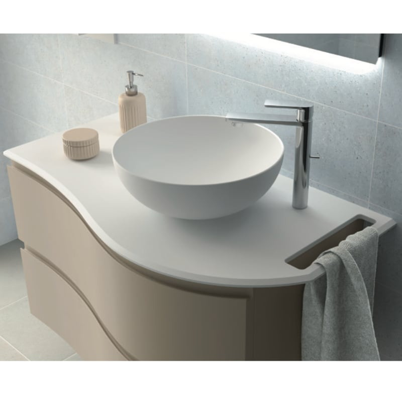 Encimera Solid mate con toallero y lavabo Altiro mate
